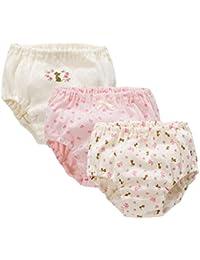 下着 キッズ 女の子 ショーツ 子供用 Maya's ジャカード織り かわいい色柄が勢揃い 綿100% 3枚組 90~140cm