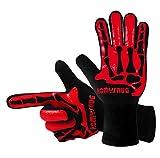 HomySnug(TM)BBQグローブ 鍋つかみ オーブンミトン シリコン手袋 耐熱 滑り止め クッキング用 バーベキュー用 フリーサイズ 2個セット (ブラック)