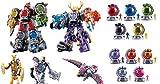 Power Rangers uchu Sentai kyuranger DX Robo 01–11セット&コックピットセット01–02