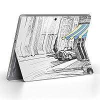 Surface go 専用スキンシール サーフェス go ノートブック ノートパソコン カバー ケース フィルム ステッカー アクセサリー 保護 イラスト 車 風景 010819