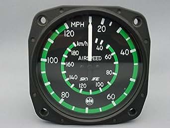 東京航空計器 飛行機用  航空計器 速度計(エアースピードメーター) (0~120mph/0~180km)