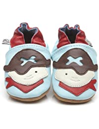 Soft Leather Baby Shoes Pirate [ソフトレザーベビーシューズの海賊] 18-24 months (15 cm)