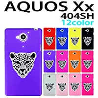 404SH AQUOS Xx / AQUOS Xx-Y 用 デコ シリコンケース (全12色) シルバーパンサー 紫色 [ AQUOSXx / AQUOSXx-Y アクオス XX / XX―Y 404SH ケース カバー 404SH XX / XX―Y ]