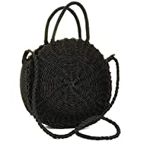Onorner Women Straw Crossbody Bag Weave Shoulder Bag Round Summer Beach Purse Handbags