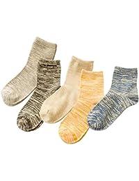 【5色?5足セット】FTZero 靴下 メンズ カジュアル ソックス くるぶしまで 四季が通用する 夏 抗菌防臭 25cm-27cm