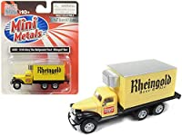 1941-1946 Chevrolet Box (Reefer) 冷却トラック Rheingold Beer & Ale イエロー 1/87 (HO) スケールモデル Classic Metal Works 30505