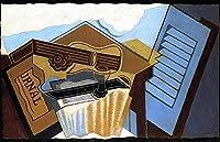 手書き-キャンバスの油絵 - 美術大学の先生直筆 - the cloud 1921 立体主義 キュビスム 絵画 洋画 複製画 -サイズ11