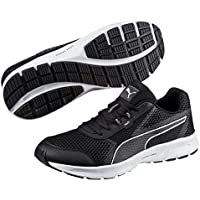 PUMA Men's Essential Runner, Black- Silver, Running shoes