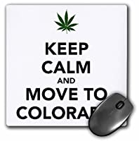 3drose Keep Calm and Move to Colorado – マウスパッド