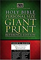 Holy Bible: King James Version, Black & Brown, Leathersoft, Personal Size Reference Giant Print