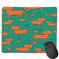 マウスパッド ゲーミングマウスパッド コンピュータマウスパッド マウス マウス敷 マウス用パッド 漫画 かわいい猫 防水マウスパッド オフィスマウスパッド 厚さを増す ゴム製滑り止め 男女兼用 耐久性が良い 疲労軽減 光学式マウス対応