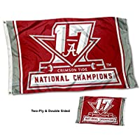 Alabama Crimson Tide 17時間National Champions両面フラグ