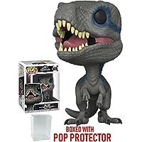 Funko POP 。Movies : Jurassic World Fallen Kingdom – ブルーヴェロキラプトルVinyl Figure (バンドルwith Popボックスプロテクターケース)