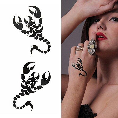 タトゥーシール ブラックスコーピオン tatoo ハロウィン Halloween