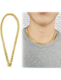 Suyiメンズファッション18 KゴールドメッキツイストInterlockedネックレス