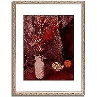 カール・シューフ Schuch, Carl「Gladiolen und Apfelsinen. Um 1885」インテリア アート 絵画 プリント 額装作品 フレーム:装飾(銀) サイズ:S (221mm X 272mm)