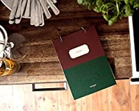 """スタイリッシュな料理ジャーナルハードカバーリングバインド空白レシピBook Cookbook Perfect for母の日ギフト、防水紙、ポケットページ、30シート、6.3"""" x8. """" グリーン NT"""