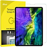 JETech Screen Protector for iPad Air 4 10.9-Inch (2020 Model), iPad Pro 11-Inch (2020 and 2018 Model), Face ID Compatible, Tempered Glass Film