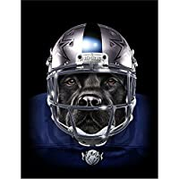 【FOX REPUBLIC】【ラブラドールレトリバー フットボールプレーヤー いぬ 犬】 白光沢紙(黒フレーム付き)A4サイズ