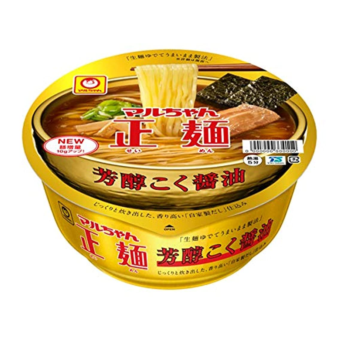 最小おとなしい効率マルちゃん 正麺カップ芳醇こく醤油 119g×12個入り (1ケース)