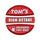 TOM'S(トムス) フューエルキャップガーニッシュ レッド・ハイオク 77315-TS001-R1 77315-TS001-R1