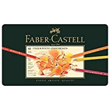 Faber-Castell AG110060 60-Pieces Polychromos Artists' Colour Pencil in Tin