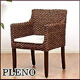 【アジアン家具】ウォーターヒヤシンス ダイニングアームチェア (肘付き椅子) PLENO(プレノ)