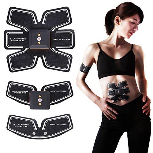 SLOTRE EMS 腹筋 ベルト 充電式 お腹 腕 セット 9段階調節 6モード 日本語説明書付き