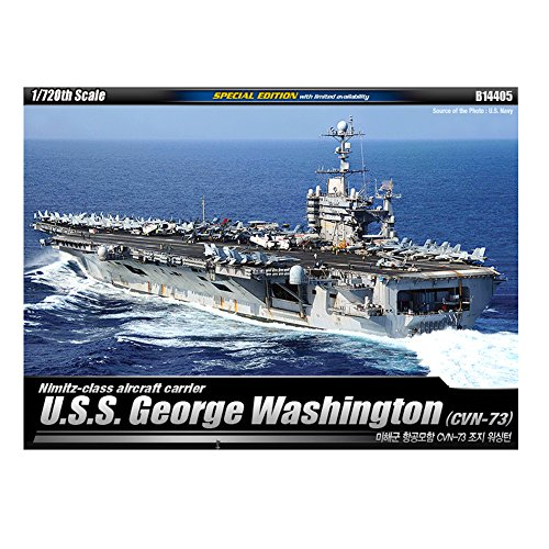 Academy アカデミー1/700米海軍空母ジョージ・ワシントンUSS George Washington(CVN-73) Academy Models B14405 [並行輸入品]