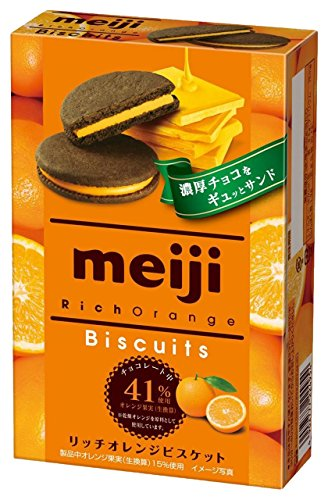 明治 リッチオレンジビスケット 6枚×5個