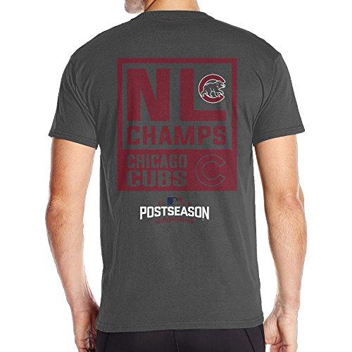 【エクセル】大きいサイズ シカゴ・カブス2016ナショナルリーグチャンピオン Tシャツ 男性 ショートスリーブ カジュアル バックプリント フィットネス トレーニング クルーネック
