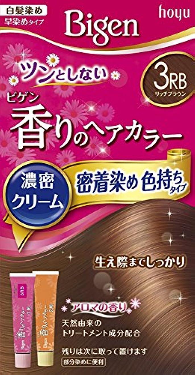 インデックスアボートショッキングホーユー ビゲン香りのヘアカラークリーム3RB (リッチブラウン) 40g+40g ×3個