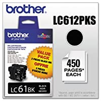 ( 3パック値バンドル) brtlc612pks lc612pks ( LC - 61)インク、450page-yield、2/ Pack、ブラック