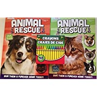 Animal Rescue Coloring Books with 48バンドルクレヨン