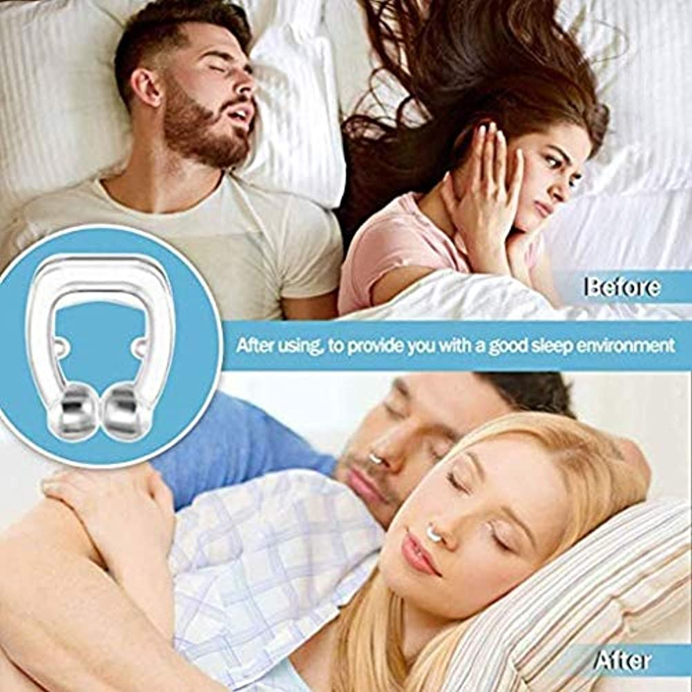 床を掃除する経営者韻アンチいびきノーズクリップ-キャリーケース付き寝具