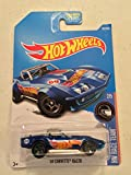 2017 Hot Wheels '69 Corvette Racer HW Race Team Series 2/5 Blue (In Car/Card Protector) [並行輸入品]