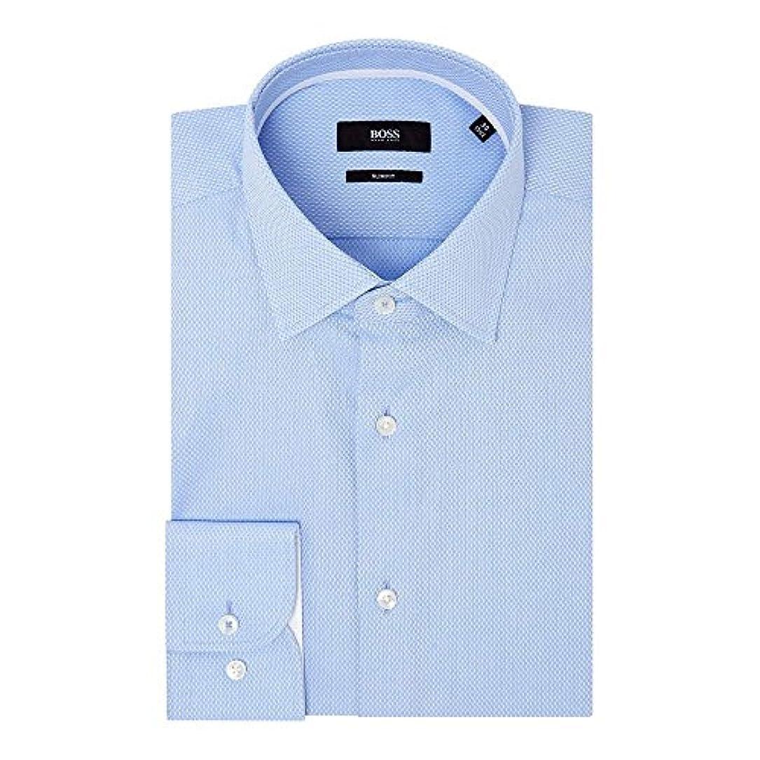 息切れ化学者識別(ヒューゴ ボス) Hugo Boss メンズ トップス シャツ Jesse Slim Tonal Structure Shirt With Trim [並行輸入品]