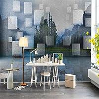 Ljjlm モダンな幾何学的な風景3D壁紙トライアングル装飾絵画壁紙用リビングルームテレビバックホーム改善-420X280cm
