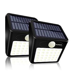 センサーライト 30LED ソーラーライト屋外照明 ワイヤレス 人感センサーライト (2 パケージ)