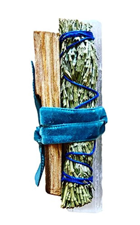 流星ビール刺しますArk Made Peaceful Smudgeコレクション 砂漠の、Palo Santo、Cedar  精選クリスタル+ Smudgeコレクションto bring平和、ハーモニー、and Clarity