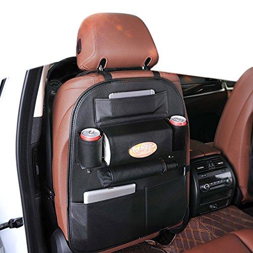 Goodlight 車用シートバックポケット レザー製 ブラック