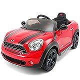 電動乗用カー 乗用ラジコン ミニクーパー SD カントリーマン 電動乗用ラジコンカー 乗用玩具 電動カー 車のおもちゃ 乗物玩具 (RED)