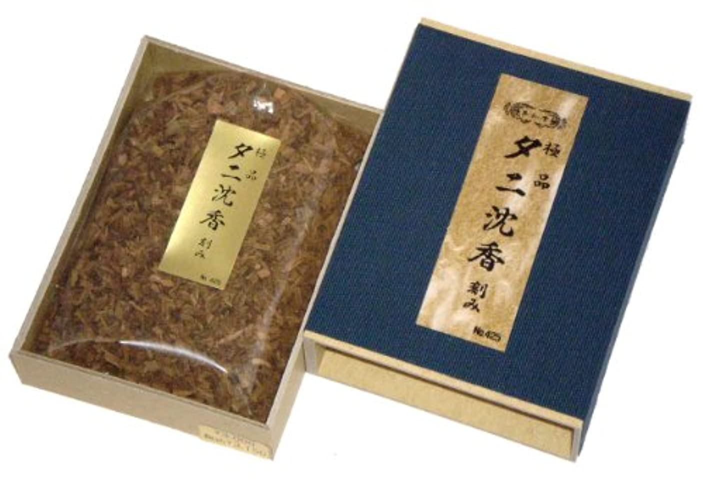 吸う見かけ上自動化玉初堂のお香 極品タニ沈香 刻み 化粧箱(布貼)入 #425