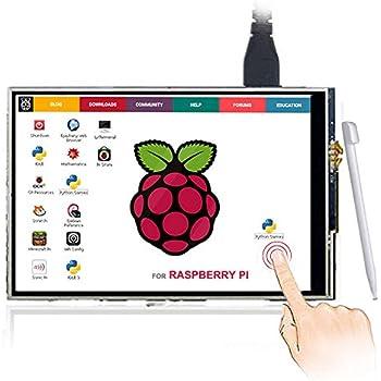 ELECROW 3.5インチTFT LCD ディスプレイ 解像度480*320 タッチスクリーン モニター Raspberry Pi 3B+ 3B 2B対応