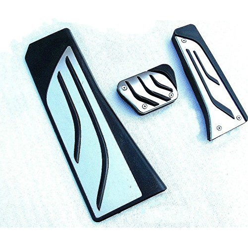 TeamTop BMW 5/6/7シリーズZ4 X3 5GT F10 / F11 / F18 F01 / F02 F25(アクセル ブレーキ レスト アルミ フット ペダル) オリジナルデザイン 簡単装着