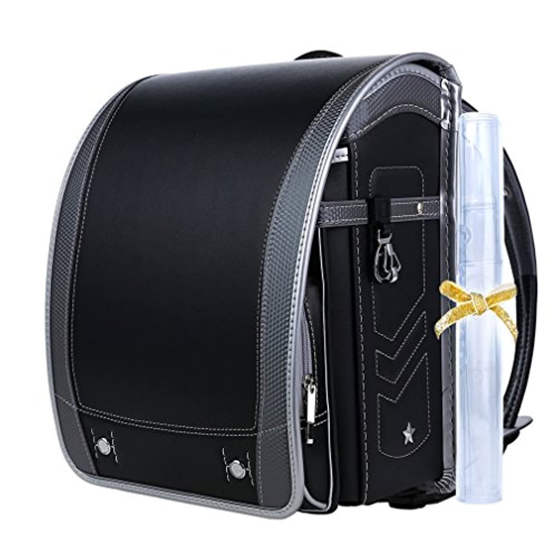 【Coulomb?クーロン?技術型】2018年度デザイン男の子向けランドセル school bag 6年品質保証付き (101 BK)