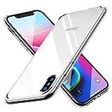 【Humixx】 iPhone X ケース iPhone 10 ケース [ Qi 充電 対応 ] [ カメラレンズ保護 ボタン保護][ 衝撃 吸収 透明感 ]( iPhoneX / iPhone10 , クリスタル・クリア)