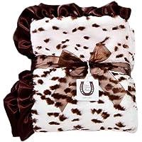Max Daniel Baby Throw Blanket, Pink Snow Leopard by Max Daniel Designs