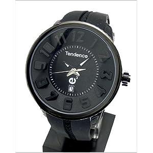 TENDENCE (テンデンス) 腕時計 ラウンドガリバー(ラバーベルト・黒文字盤) 2033010