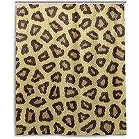 マキク(MAKIKU) シャワーカーテン 防カビ おしゃれ リング付属 豹柄 模様 おもしろいプリント バスカーテン 防炎 環境にやさしい 目隠し洗面所 間仕切り 取付簡単 150x180